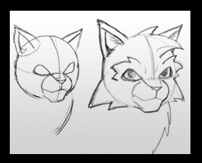 illustration of cats faces