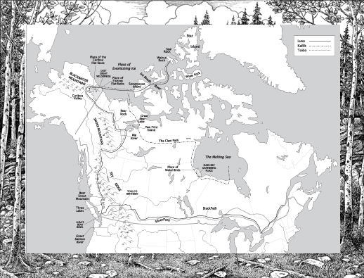 map of bears journey